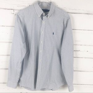 Ralph Lauren plaid check button down shirt mens